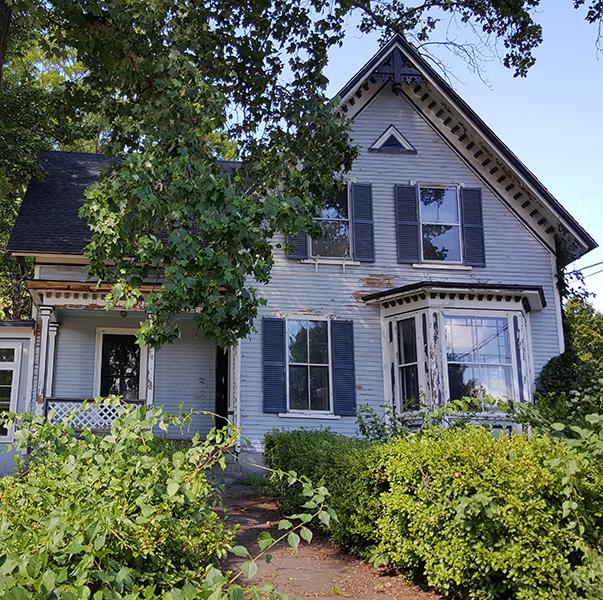 single-family home before lead hazard work