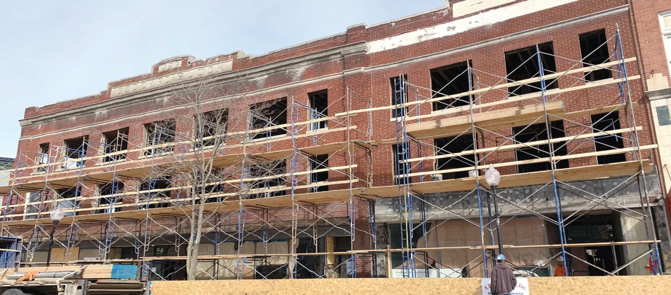 Goodard Block under construction building
